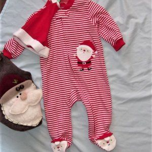 NEW unisex baby babies christmas outfit santa pjs